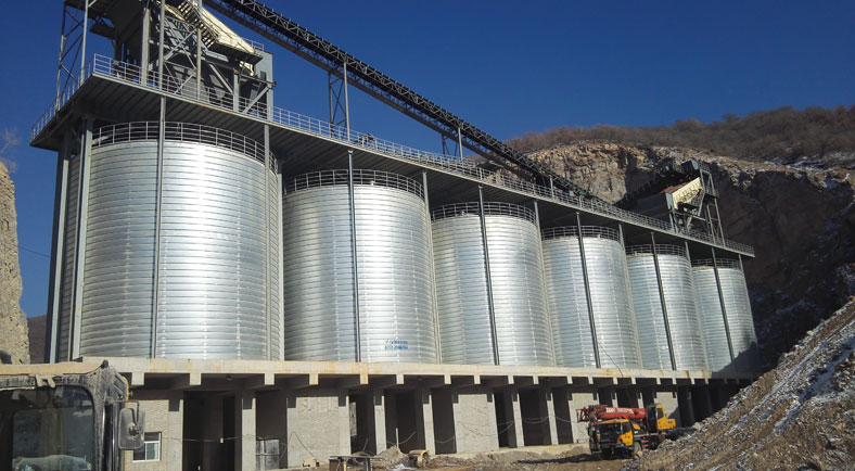 calcined petroleum coke storage silo