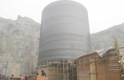 500tons Cement Silo Project in Guangxi, China