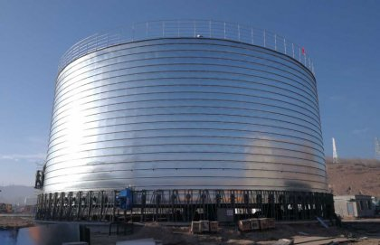 A 500 tons cement storage silo constructed in Guangxi, China