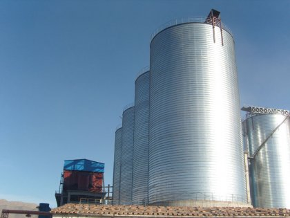 A 800tons chemical storage silo project in Hunan, China