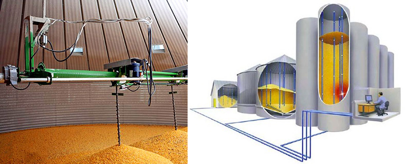 grain silo measurement