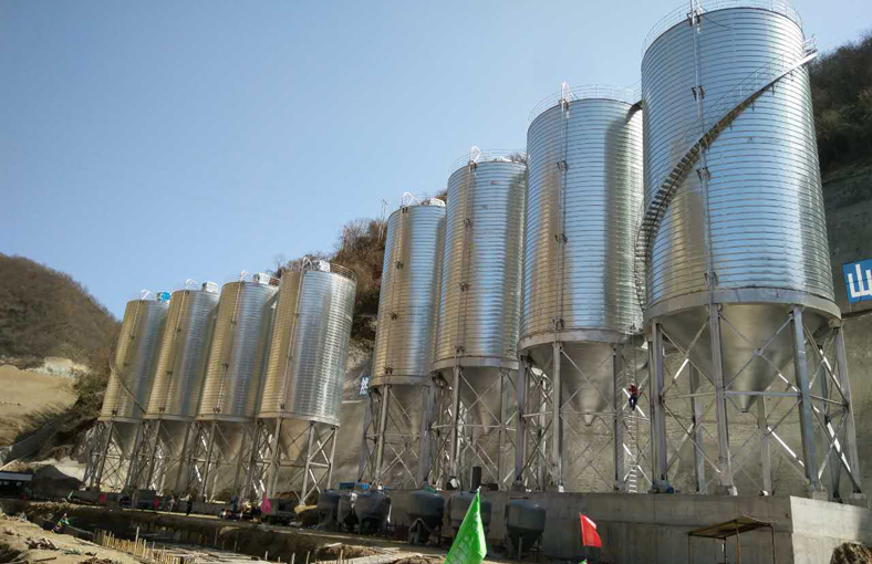 hopper bottom metal silo