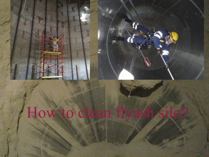 How to clean fly ash steel storage silo?
