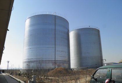 3000tons Mineral Powder and Cobble Silo Project in Xinjiang, China
