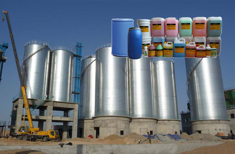 chemical storage silo