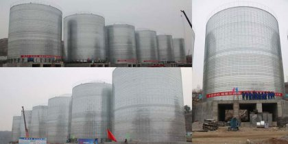 15000tons coal storage silo in Xinyang, China